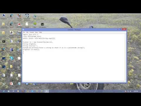 Palindrome Program in Java