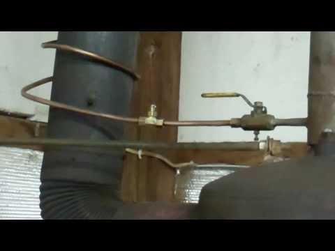 Waste oil heater/furnace gravity drip feed homemade