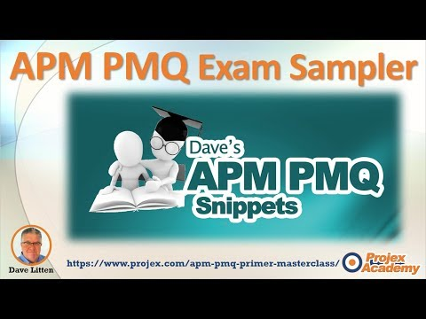 APM PMQ Exam cheat sheet - Project Management Qualification Free Lesson