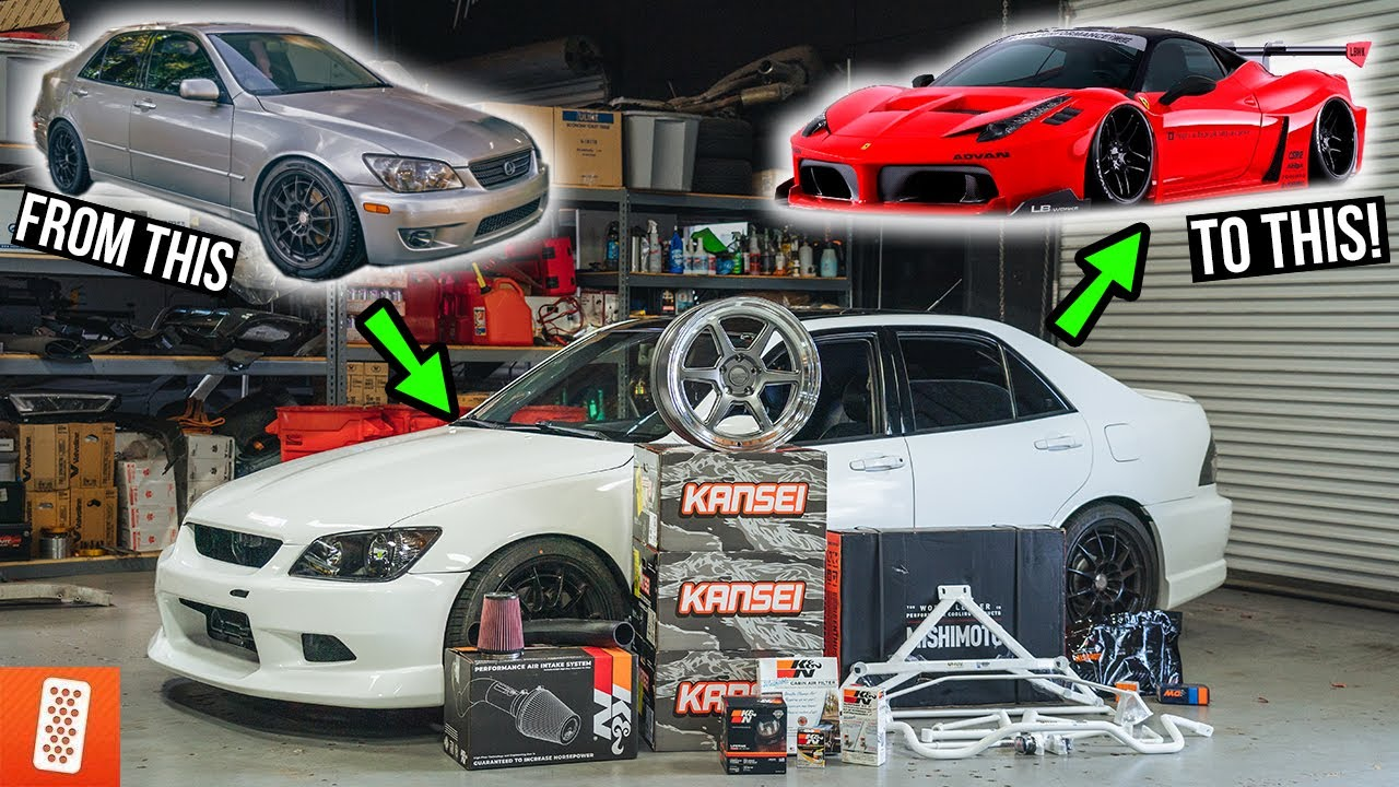 Building a $7,000 Lexus IS300 & then TRADING it FOR a Ferrari! [COMPLETE TRANSFORMATION] -Ep.01 - 4K