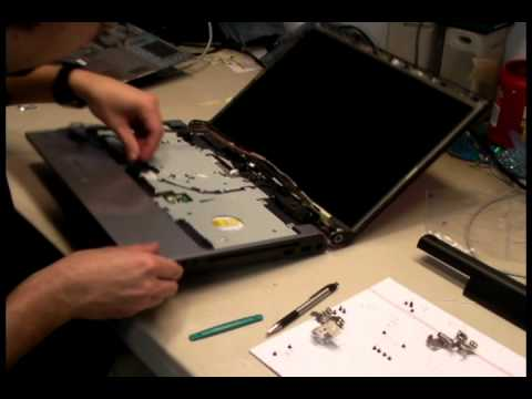 Dell Studio laptop display assembly replace