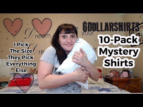 Unboxing A 10 Pack Mystery Shirts From 6dollarshirts.com