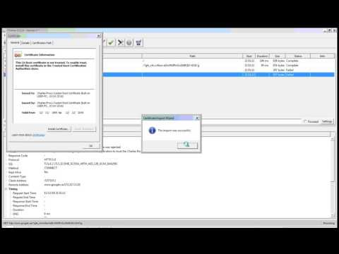 How to install SSL certificate for Charles Proxy in Windows for IE and application.