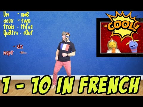 Learn French: French Numbers:  Count in French: 1 - 10 in #french language