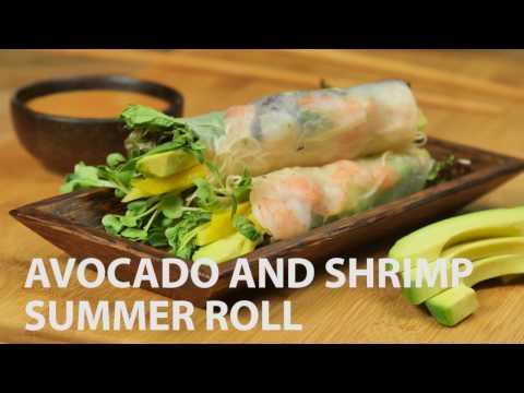 Avocado and Shrimp Summer Roll