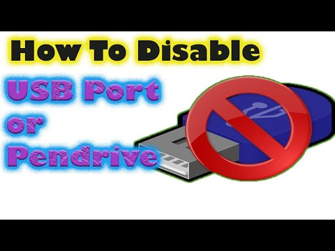 How to Block USB port and Pendrive in windows 7/8/10