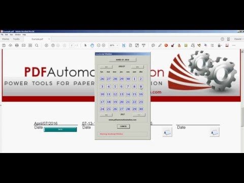 How To Insert A Popup Calendar/Date Picker into a PDF Form