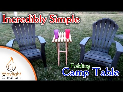 Make A Small Folding Wood Camp Table