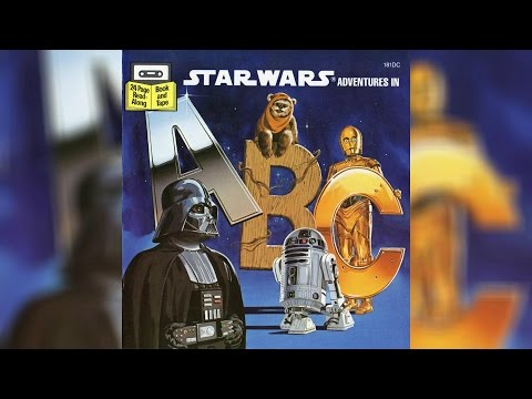 1984 Star Wars Adventures in ABC Read-Along Story Book and Cassette