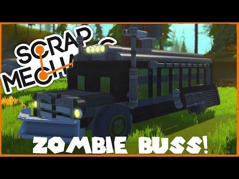 APOCALYPTIC SURVIVAL BUS! - Scrap Mechanic - Ep 3