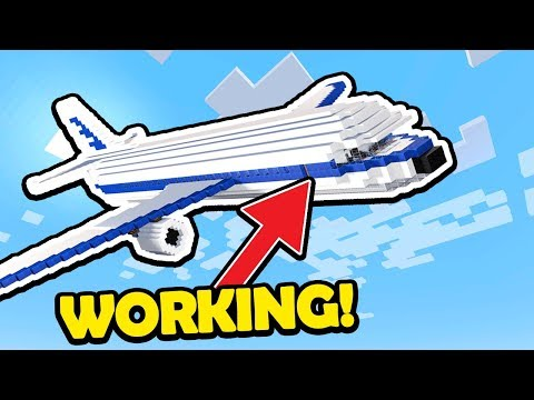 How To Make a WORKING PLANE in Minecraft! (Easy Tutorial)