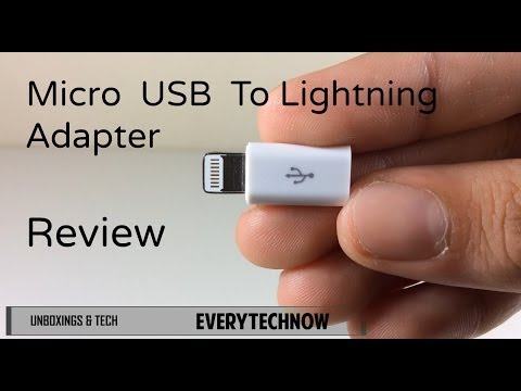 Apple Lightning To Micro USB Adapter Review + TEST - Charge IPad/IPod/IPhone With Micro USB