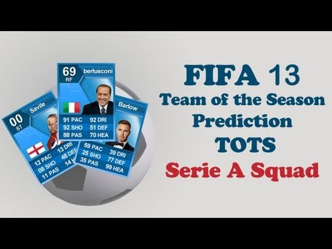 FIFA 13 UT - SERIE A TOTS Prediction - Ultimate Team Blue Cards