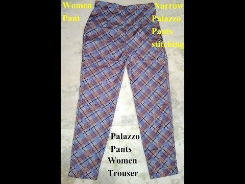 Pant Cut Palazzo-Narrow Palazzo Pants stitching-Women Pant-How To Make Narrow Palazzo-Ladies pant