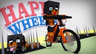 Minecraft BABY HAPPY WHEELS - DONUTS HEAD FALLS OFF INTO SPIKES - Donut the Dog Minecraft Roleplay