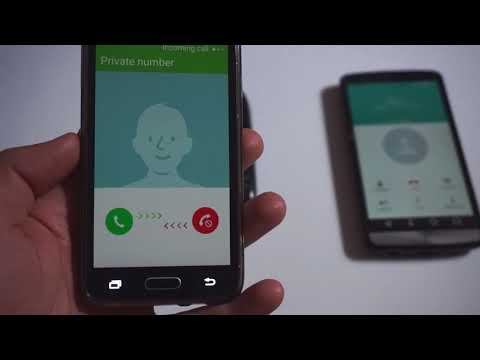 How to Hide your Phone Number (Private number, LG G3 calling a Nokia 1616, Galaxy A3)