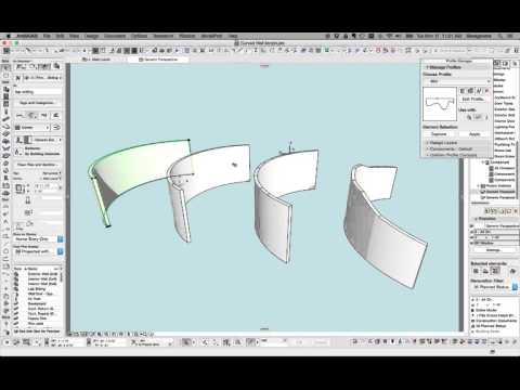 ARCHICAD Tip #51: Modeling a Curved Wall with Irregular Top