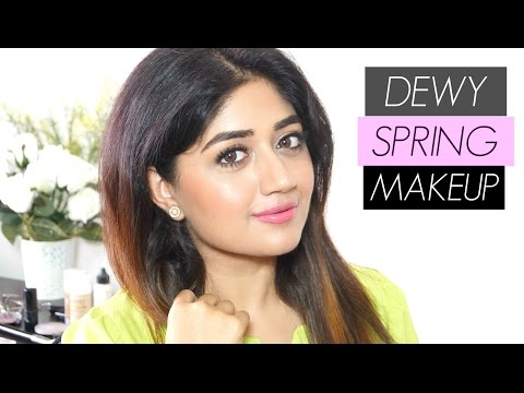 Dewy Fresh Makeup for Spring | Indian Makeup Tutorial | corallista