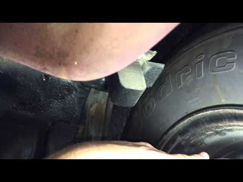 Cut bump stop flange Peanut's 1969 Mach 1 Ford Mustang Day 4 Part 2