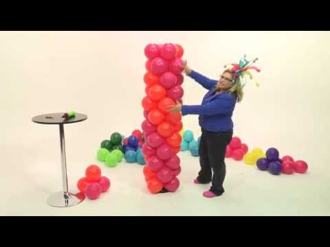 Balloon Tower- Slow Spiral Tower ~ DIY Tutorial