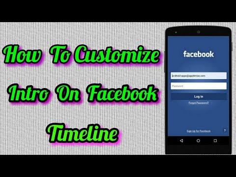 How To Customize Intro On Facebook Timeline In Mobile