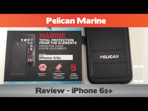 Pelican Marine Review - One of the BEST! -  Waterproof i6hone 6s Case Review
