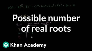 Possible number of real roots | Polynomial and rational functions | Algebra II | Khan Academy