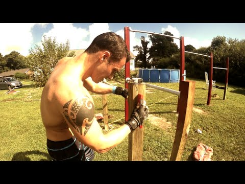 Build a PULL UP BAR/CHIN UP BAR and PARALLEL BARS for Calisthenics
