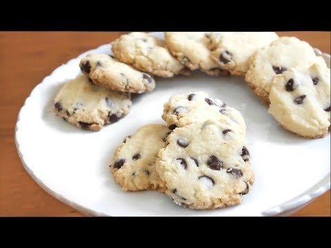 5 ingredient Chocolate Chip Shortbread Cookies 🍪 | SweetTreats