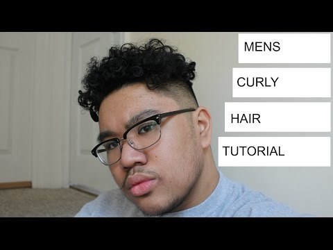 STRAIGHT TO CURLY HAIR| MENS CURLY HAIR TUTORIAL| MAN PERM | BRANCH1302