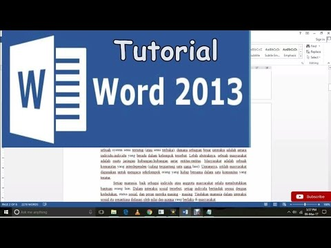 Tutorial membuat heading style di Ms word 2013