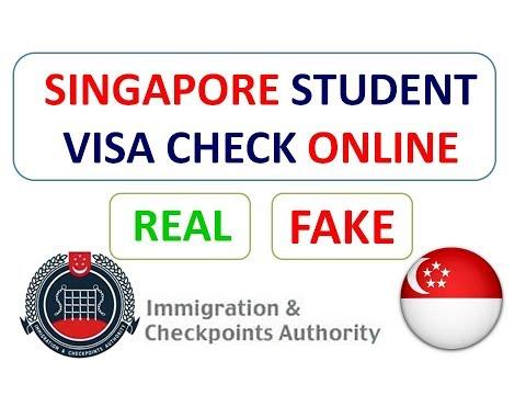 Singapore Student Visa Status Online ( Check its REAL or Fake )