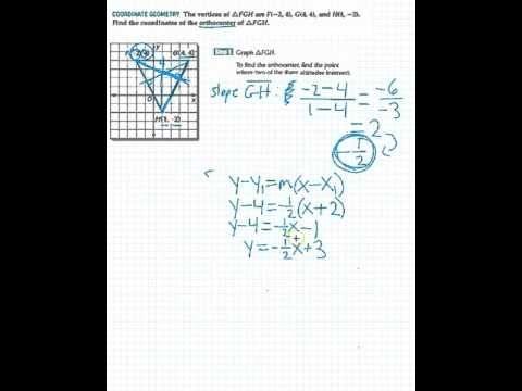 Coordinate Geometry   Find Orthocenter