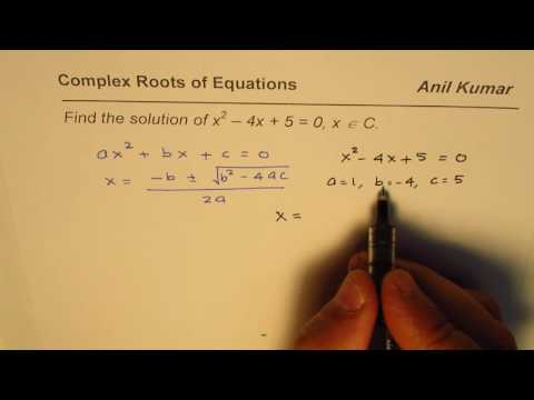 Find Complex Roots of the Quadratic Equation