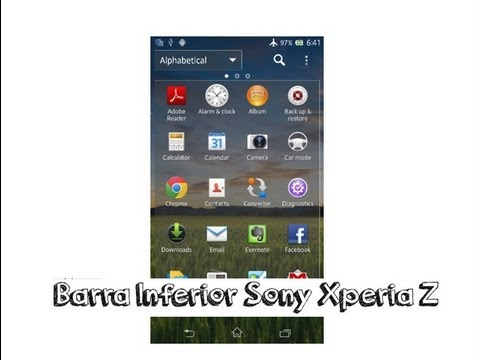 Quitar barra inferior Sony Xperia Z Español