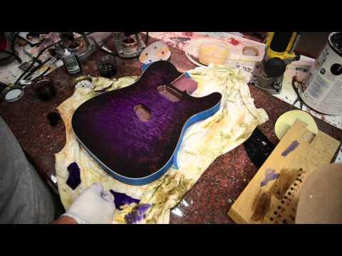 Purpleburst Tutorial on a Custom Tele Guitar Luthier How To