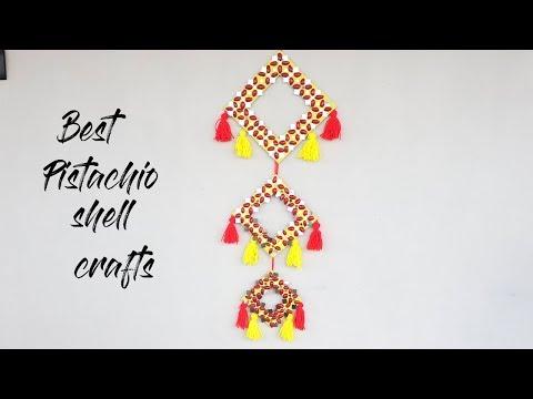 BEST PISTACHIO SHELL CRAFT IDEAS   WALL HANGING CRAFT IDEAS  BEST WALL HANGING IDEAS 