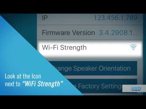 Checking WiFi Signal Strength When Setting Up JAM WiFi Home Audio Speakers