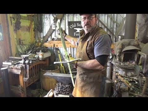 Blacksmithing Shorts - Forging A Guard For The Claymore