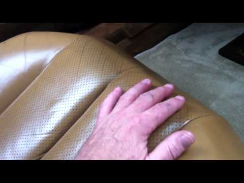 using Bag balm to restore and condition leather car seats and shift knob..Mercedes Benz