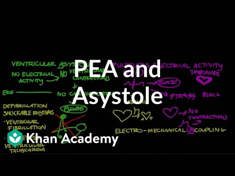 Pulseless electrical activity (PEA) and asystole | NCLEX-RN | Khan Academy