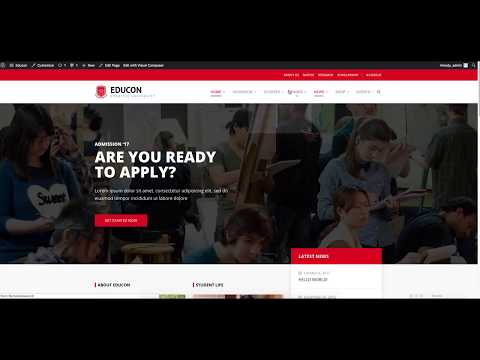 How to install Educon theme and import its demo contents