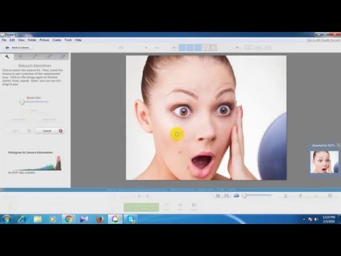 how to remove mark  your face in picasa editor??