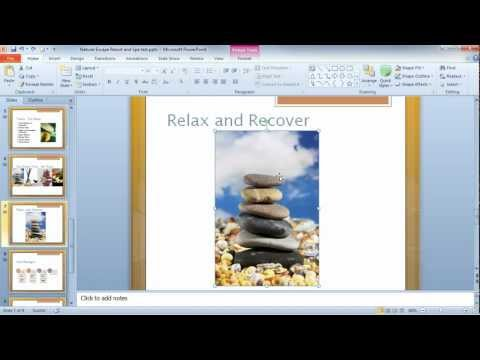 PowerPoint 2010 - Using the Blur Effect