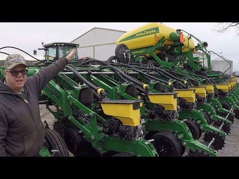 Spring Fever! John Deere Corn Planter Ready To Go - High Tech Farming Equipment!