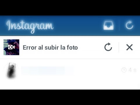 instagram no me deja subir videos