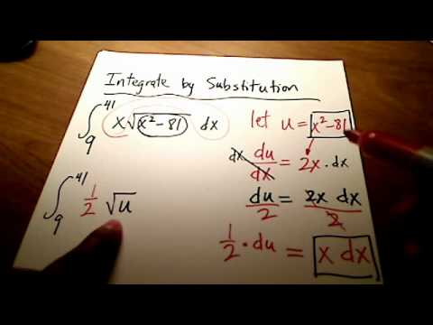Calc I: A Definite Integration by Substitution using square roots