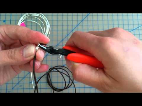 How to Make a Wire Wrapped Leather End by Judit