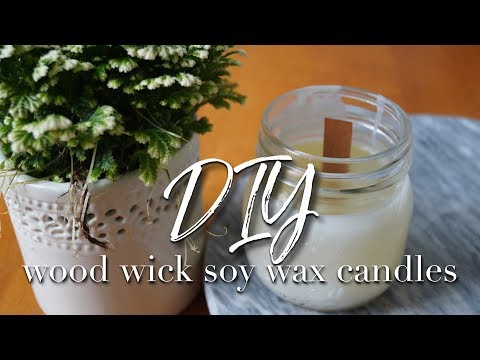DIY | Wood wick soy wax candles