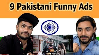 Indian reaction on 9 Pakistani Funny Ads   | Swaggy d